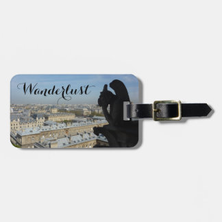 Wanderlust (Paris Gargoyle & View) Luggage Tag