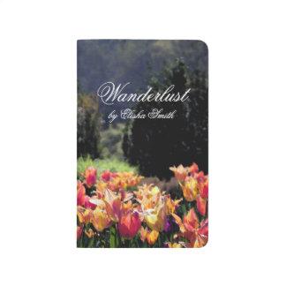 Wanderlust Watercolor Tulips Journal