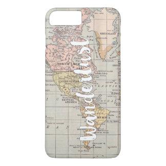 Wanderlust world map smartphone case