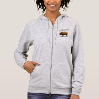 WANDERLUST Zip Hoodie: American Buffalo (Bison) Hoodie