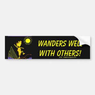 Wanders Well With Others Bumper Sticker