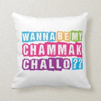 Wanna be my Chammak Challo ? Beautiful flashy girl Throw Pillow