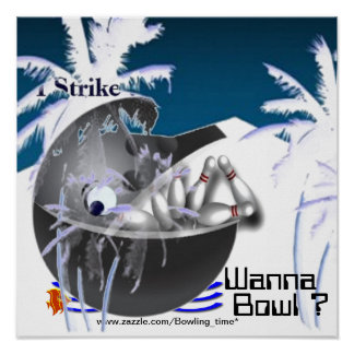 Wanna bowl? bowling ball whale print