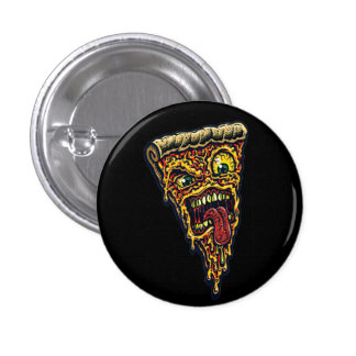 wanna eat some pizza scary horor 3 cm round badge