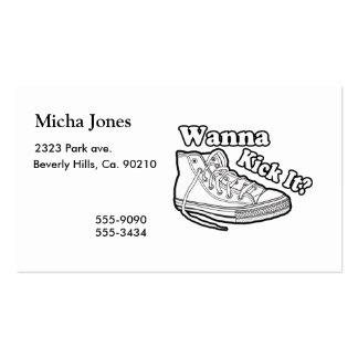 Wanna Kick It Sneakers Double-Sided Standard Business Cards (Pack Of 100)