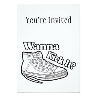 Wanna Kick It Sneakers Card