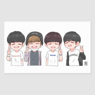 WANNA ONE ONG KANG DANIEL KIM JAEHWAN BAE JINYOUNG RECTANGULAR STICKER
