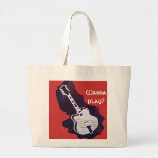 Wanna Play Large Tote Bag