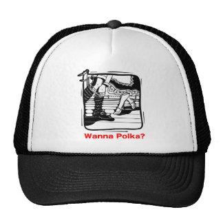 Wanna Polka? Oktoberfest T-shirt Mesh Hat
