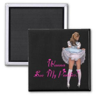 Wanna See My Panties? Magnets