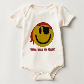 Wanna Walk My Plank Baby Bodysuit