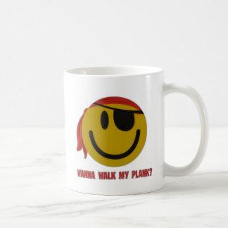 Wanna Walk My Plank Basic White Mug