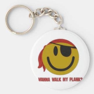 Wanna Walk My Plank Key Chains
