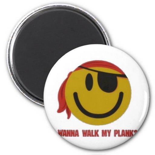 Wanna Walk My Plank Refrigerator Magnets