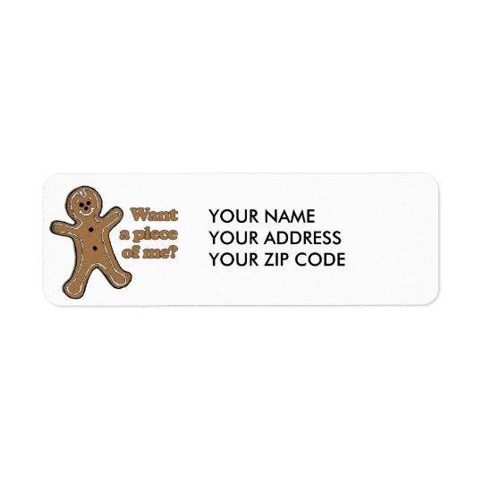 Want a piece of me return address label