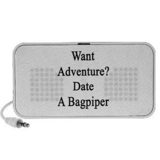 Want Adventure Date A Bagpiper Mini Speakers