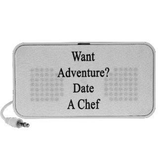 Want Adventure Date A Chef iPhone Speaker