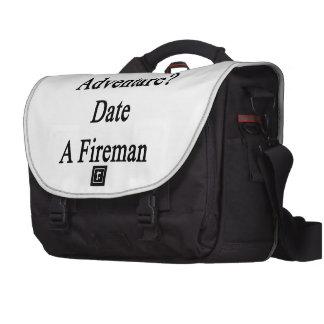 Want Adventure Date A Fireman Laptop Bag