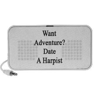 Want Adventure Date A Harpist Notebook Speakers