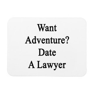 Want Adventure Date A Lawyer Vinyl Magnets