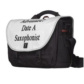 Want Adventure Date A Saxophonist Laptop Messenger Bag
