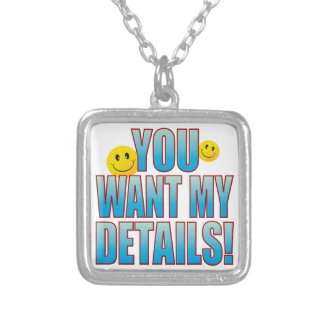 Want Details Life B Silver Plated Necklace