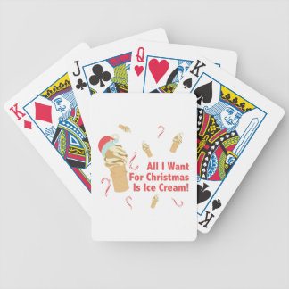 Want Ice Cream Bicycle Playing Cards