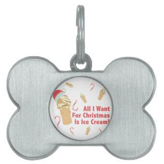 Want Ice Cream Pet Name Tag