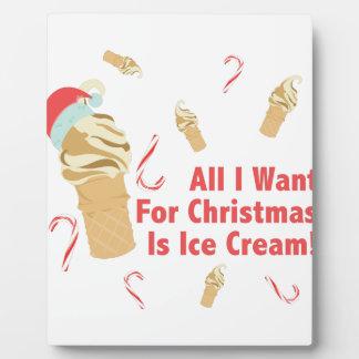 Want Ice Cream Plaque