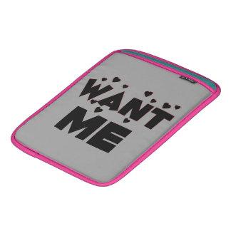 Want Me/Cute Fun Valentine's Day Love Gift iPad Sleeves