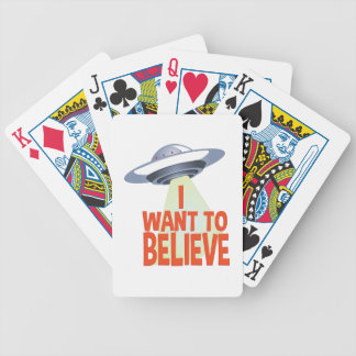 Want To Believe Bicycle Playing Cards