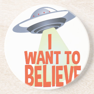 Want To Believe Drink Coasters
