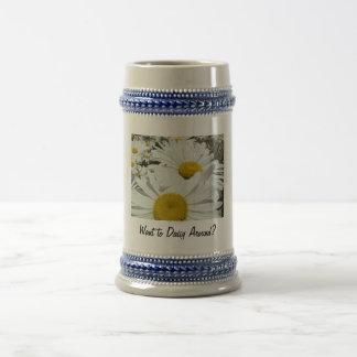 Want to Daisy Around? Stein Mug Valentines Day