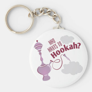 Want To Hookah Basic Round Button Key Ring