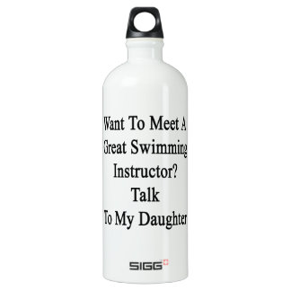 Want To Meet A Great Swimming Instructor Talk To M SIGG Traveller 1.0L Water Bottle
