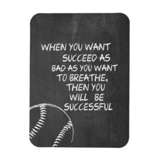 Want To Succeed Baseball Motivational Rectangular Photo Magnet