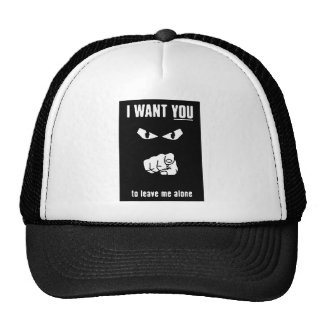 want you leave alone black white cartoon insults hats