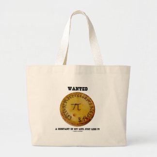 Wanted A Constant In My Life Just Like Pi Jumbo Tote Bag