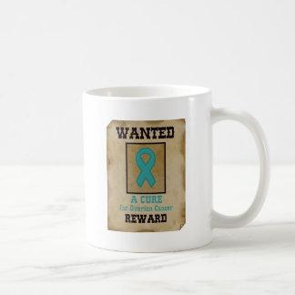 Wanted: A Cure for Ovarian Cancer Basic White Mug