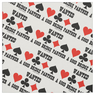 Wanted A Good Bridge Partner Card Suits Bridge Fabric