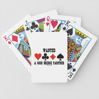 Wanted A Good Bridge Partner Card Suits Bridge Poker Deck