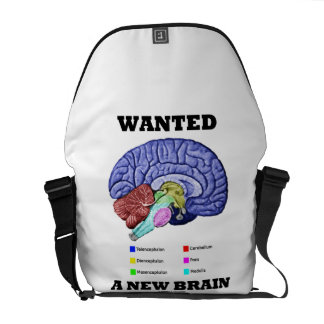 Wanted A New Brain (Anatomical Brain Attitude) Commuter Bag