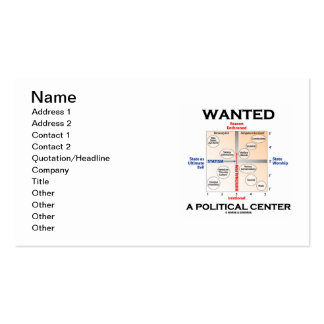 Wanted A Political Center (Pournelle Chart) Pack Of Standard Business Cards