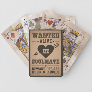 WANTED ALIVE: SOULMATE playing cards