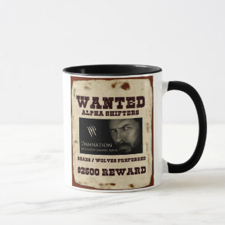 """Wanted: alpha shifters"" mug"