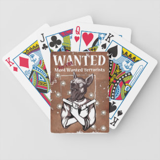 Wanted By FBI Animal Crazy Dog Bicycle Playing Cards