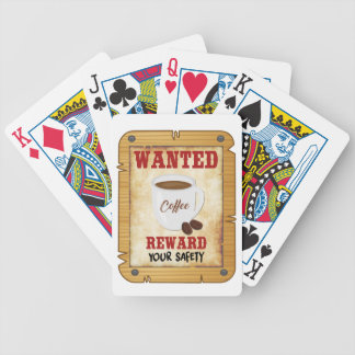 Wanted Coffee Bicycle Playing Cards