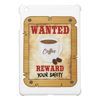 Wanted Coffee iPad Mini Case