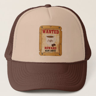 Wanted Coffee Trucker Hat