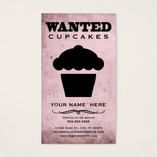 wanted : cupcakes business card